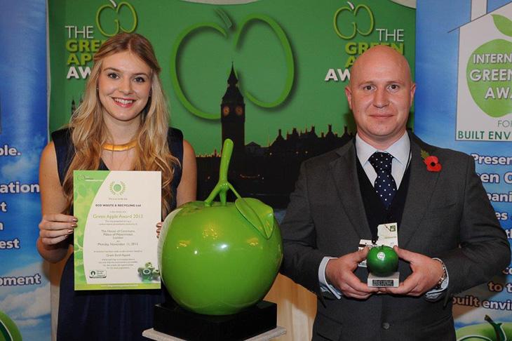 Photo taken after receiving award